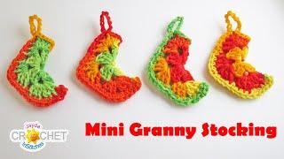 vuclip Mini Granny Square Christmas Stocking - Crochet Pattern & Tutorial