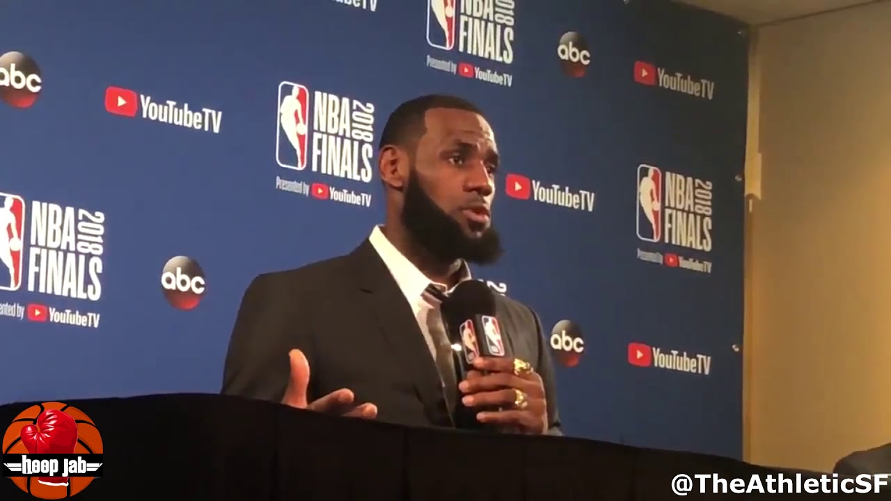 4bc1850e6b4f Pissed Off LeBron James Walks Out Of Presser After JR Smith Questions.  HoopJab NBA Finals
