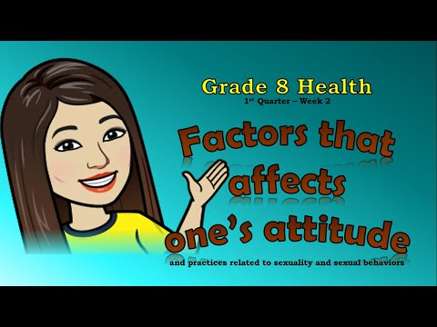 Factors that Affects  One's Attitude | Human Sexuality | Grade 8 Health - First Quarter | Maam CJ