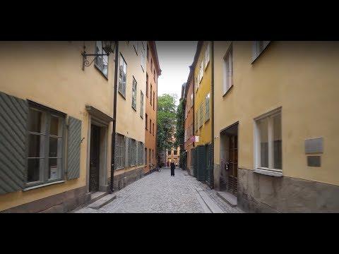 Sweden, Stockholm, biking from Gamla Stan to Skanstull