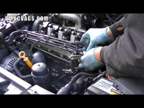 How to Remove a sel Injector Electrical Loom - YouTube Vw Pat Injector Wiring Harness on