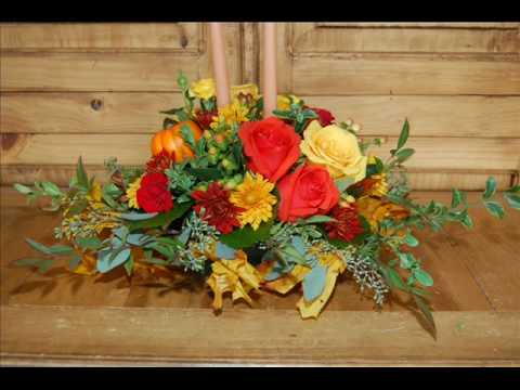 how to make a thanksgiving centerpiece using fresh flowers youtube