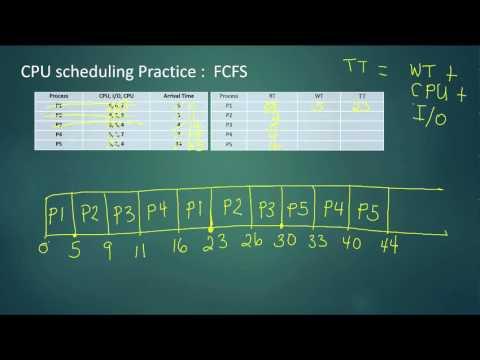17. CPU scheduling Practice - FCFS, SJF, MLFQ