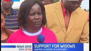 Hon Rachelle Shebesh in Kapsabet to support widows in the area