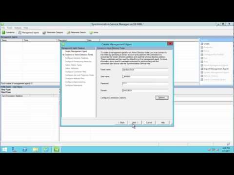 Microsoft Identity Manager 2016 SP1 Creating Management Agents And Synchronization Rules - MIM #5