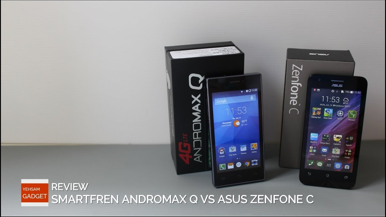 Smartfren Andromax Q vs Asus Zenfone C : Review  YouTube