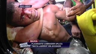 """Brasil Urgente - Ladrão é Preso Dentro de Ônibus Com o Golpe """"Mata Ladrão"""""""