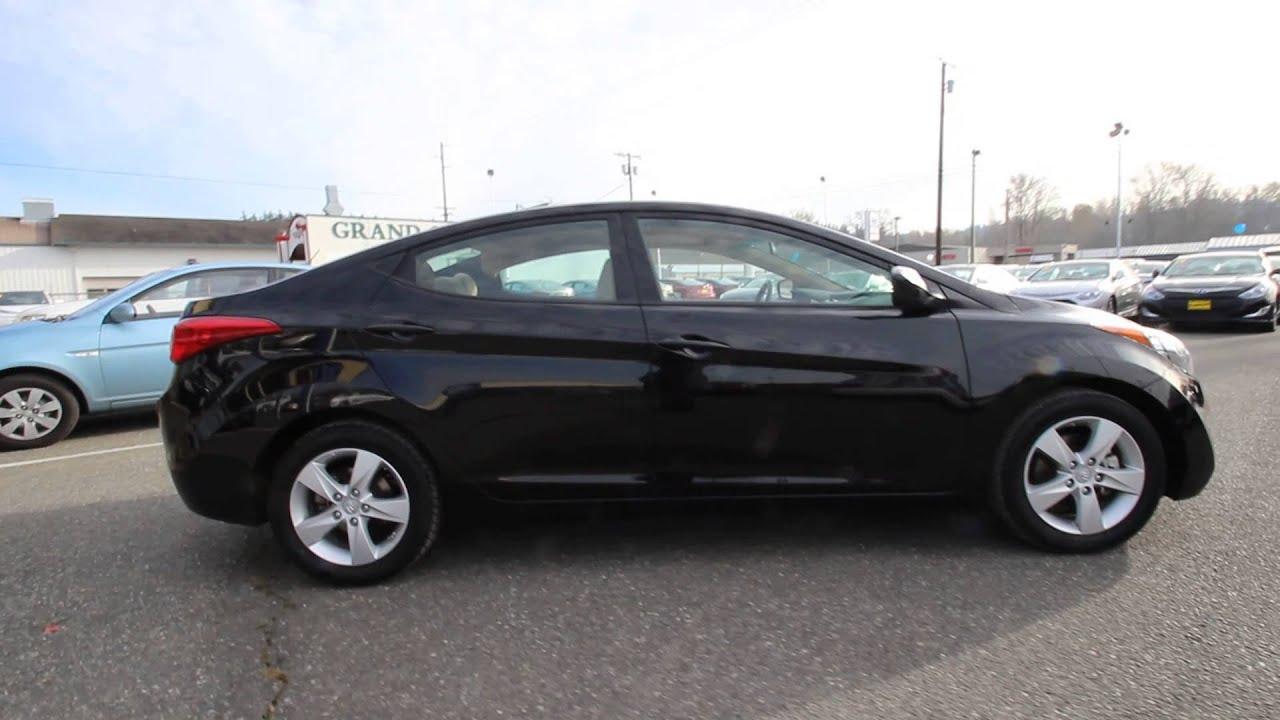 2013 Hyundai Elantra Gls Black Noir Pearl Dh313456