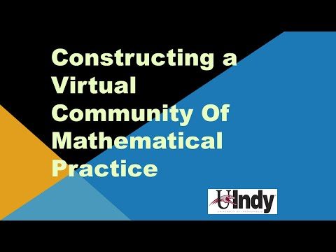 Constructing a Virtual Community of Mathematical Practice