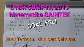 Matematika Saintek UTBK SBMPTN 2019