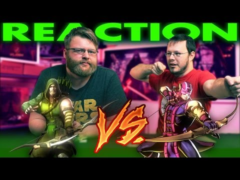 Green Arrow VS Hawkeye DeathBattle REACTION and SLAPBET!!