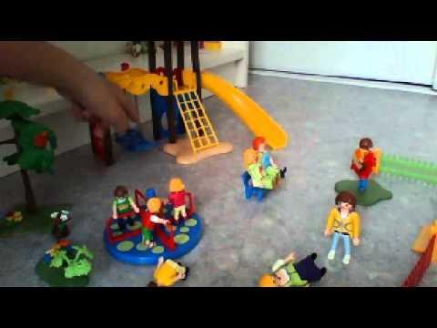 playmobil d mo square pour enfants avec des jeux youtube. Black Bedroom Furniture Sets. Home Design Ideas