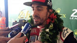 Fernando Alonso après sa victoire