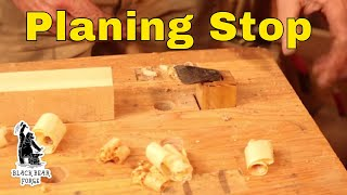 Woodworking planing stop or bench stop