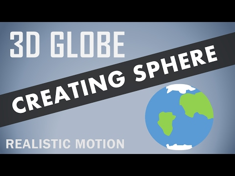 3D Sphere Effect 2017 | After Effects Tutorial | Spinning Earth | Realistic Motion