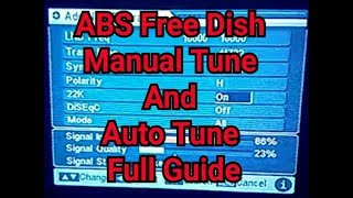 Tune ABS Free Dish in Mpeg - 2 Fta Set Top Box / Very Easy Full Guide 2017