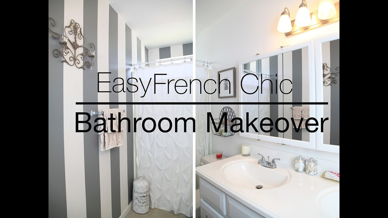 Bathroom Decorating Ideas For Renters easy rental bathroom makeover - youtube