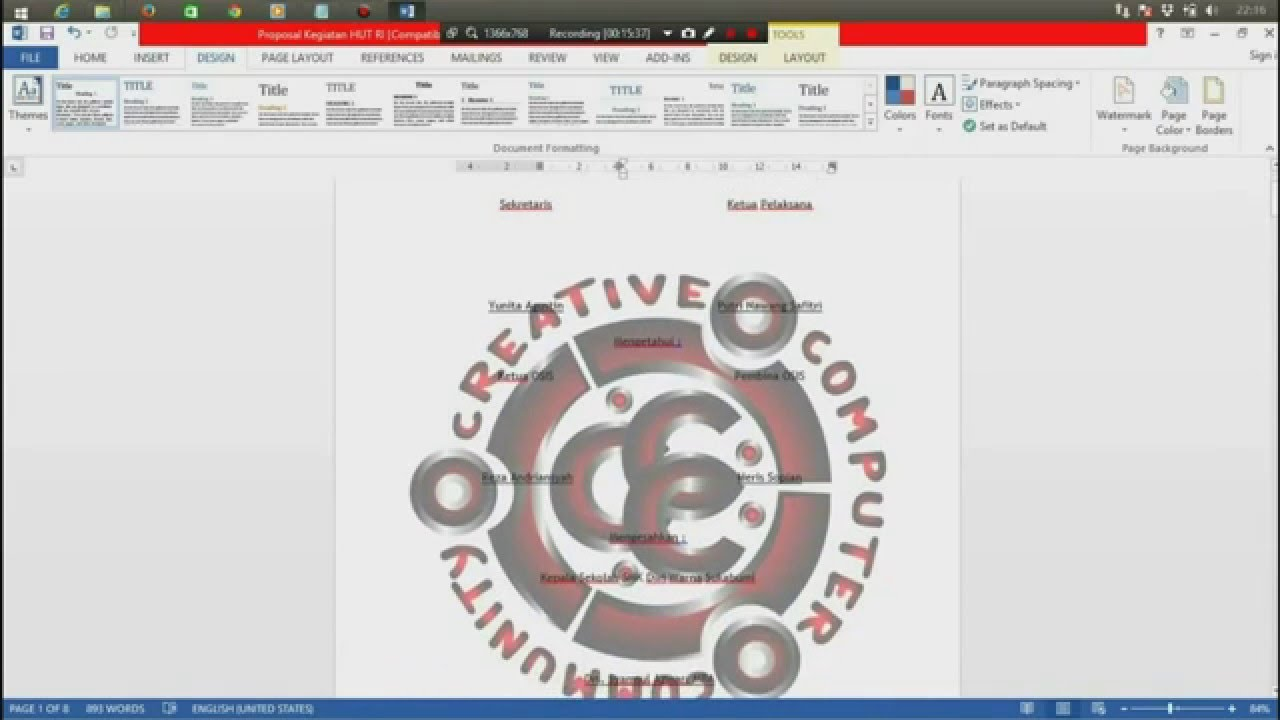 Cara Membuat Watermark Atau Background Gambar Di Microsoft Word