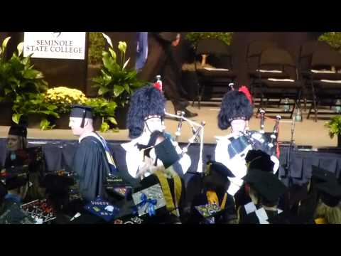 Bagpipes at Seminole State College of Florida Graduation