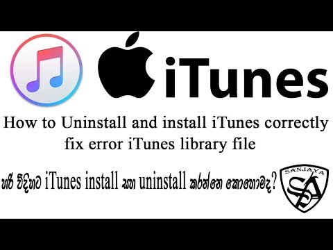 How To Uninstall ITunes Correctly And Fixed Library File Error .itl