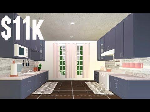 Roblox Bloxburg Cozy Kitchen Room Build Youtube