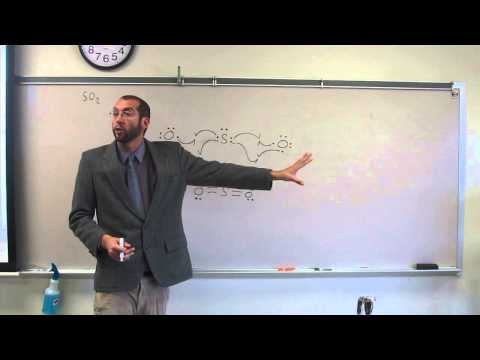 SO2 Bent Molecular Geometry-VSEPR Theory Model