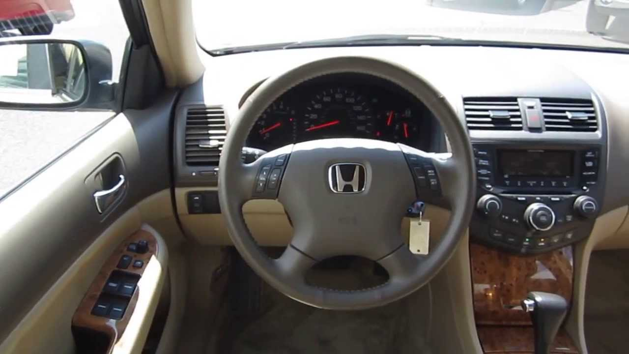 2005 honda accord gold stock 6238a interior youtube. Black Bedroom Furniture Sets. Home Design Ideas