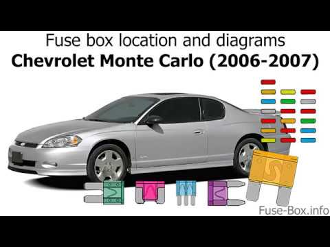 Fuse Box Location And Diagrams Chevrolet Monte Carlo 2006 2007 Youtube