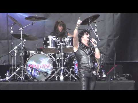 Madam X - Dirty Girls & She's Hot Tonight Live @ Sweden Rock Festival 2014