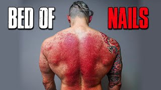 The WORST PAIN I've Tried | BED OF NAILS Pressure Point Therapy | Before & After