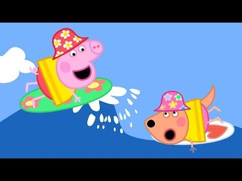 Peppa Pig Português Brasil - Surfando (clipe) - Pepa ping ping