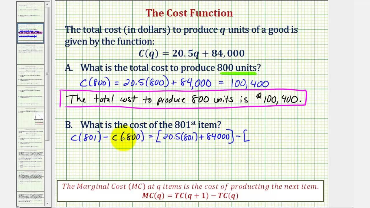 marginal cost vs total cost
