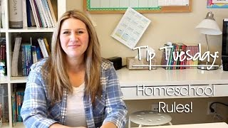 Creating Rules to Help Your Homeschool