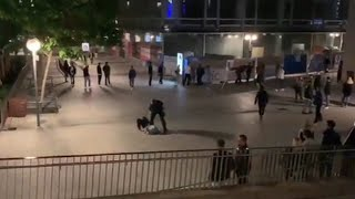 BLM riots and looting reach Stuttgart, Germany.