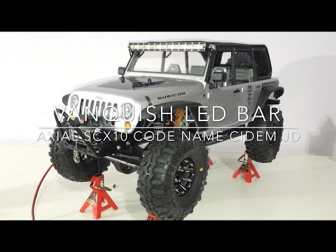 Giostealthr1 Vanquish Rc Led Light Bar Kit Axial Scx10
