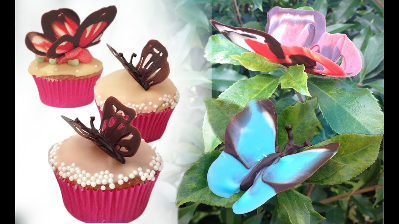 Chocolate Butterfly Decorations Tutorial How To Cook That