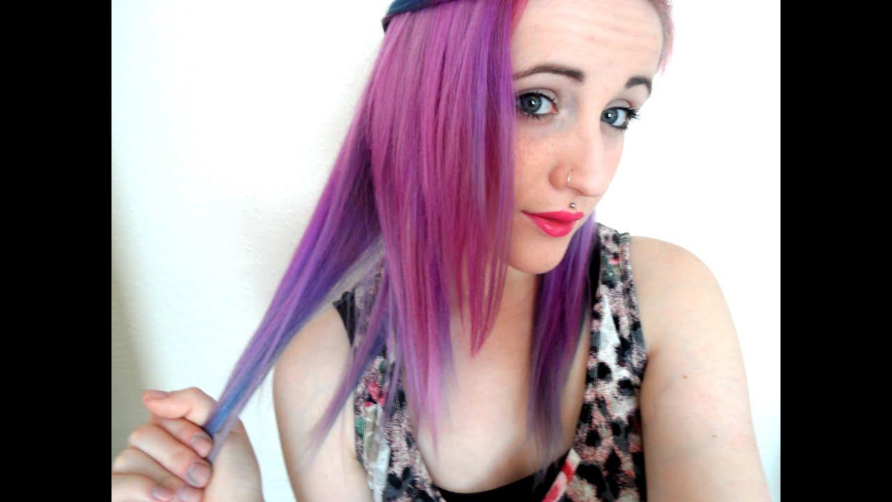 Mystic Heather Purple 3 Tone Hair Dye Tutorial Youtube