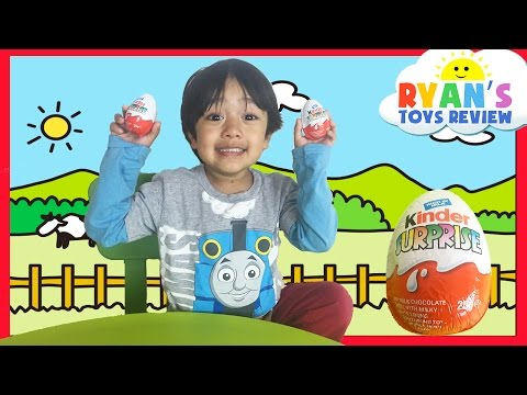 Kinder Eggs Surprises Toys Opening For Kids Ryan ToysReview