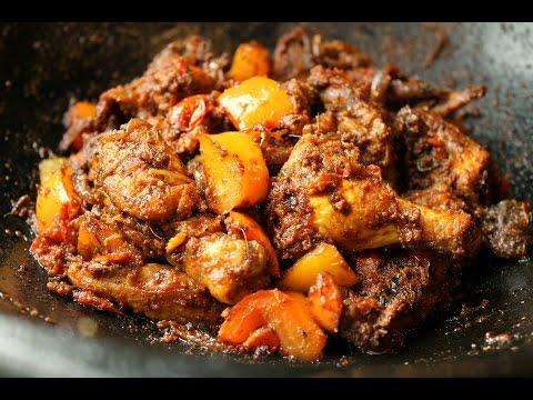Spicy Capsicum Chicken Masala