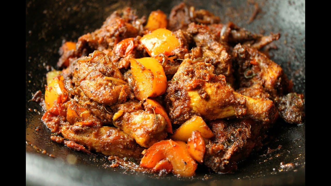 Spicy Capsicum Chicken Masala - YouTube