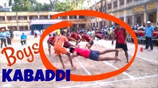 Boys Kabaddi State Level Competition 2017 at Habra / Breathtaking  Moves of the Game