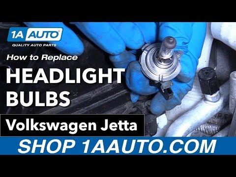 How to Replace Headlight Bulbs 11-18 Volkswagen Jetta