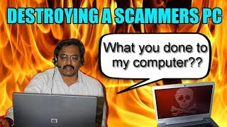 Destroying  Scammers Computer With Virus thumbnail