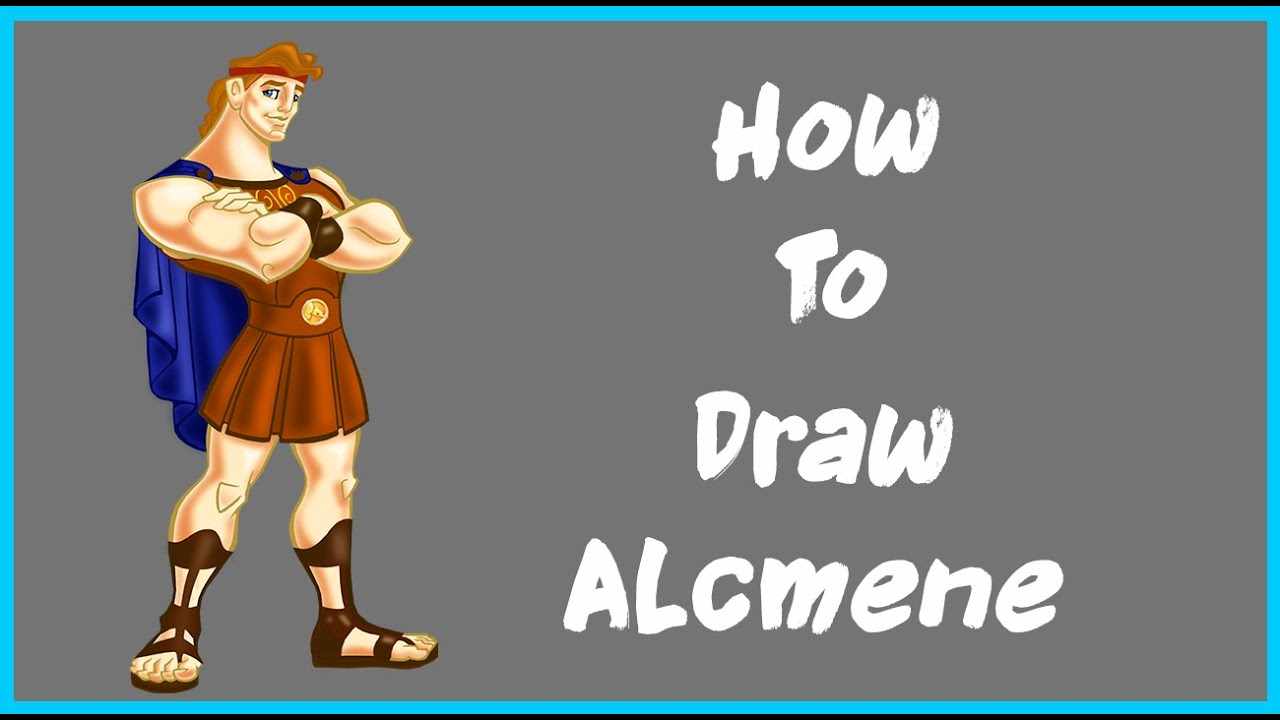 how to draw Hercules | Alcmene Disney character - YouTube