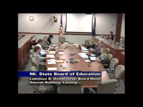 Michigan Department of Education Special Meeting for October 22, 2014