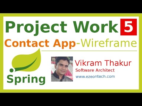 5 - Spring MVC - Project Work - Wireframe or Screen Designs(Contact App) - Java Training By eZeon