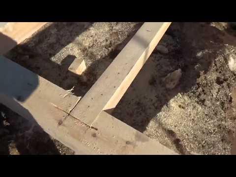 Баня из бруса своими руками - первый этап сборка основания