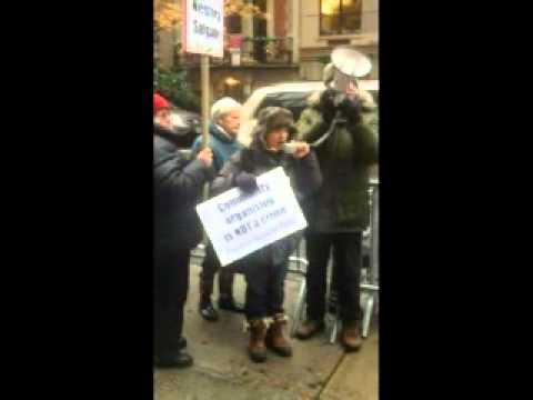 Nestora Salgado Protest Speeches - NYC - 12/10/13