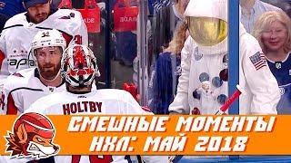 Самые курьёзные и смешные моменты НХЛ: май 2018
