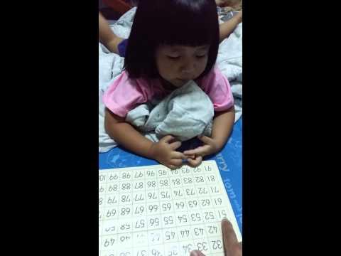 สอนนับเลข 1-100 ภาษาอังกฤษ:เตรียมอนุบาล